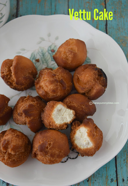 Vettu Cake / Vetti Cake / Tea stall Fried Cake /  Chai Kada Cake / Eggless Vetti cake