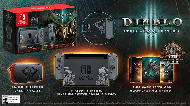 Presentada la consola edición limitada de diablo 3 para Nintendo Switch