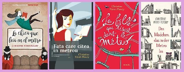 portadas de la novela contemporánea La chica que leía en el metro, de Christine Feret-Fleury