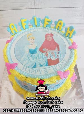 Kue Edible Foto Cinderella Cake