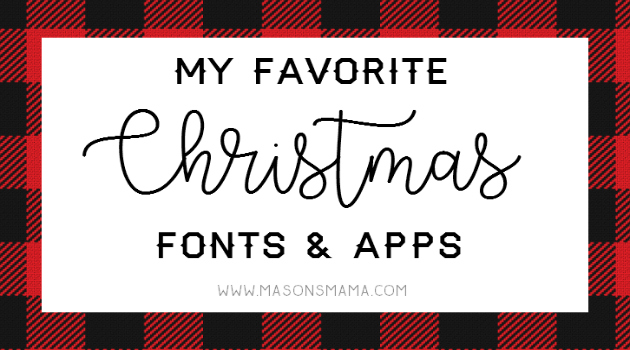 Hall Around Texas Favorite Free Christmas Fonts and Apps