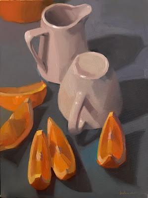 still life oranges sarah sedwick