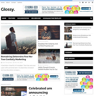Glossy-blogger-template-event-blogging