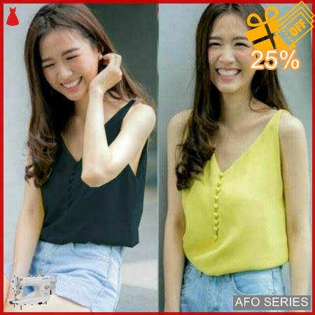 AFO266 Model Fashion Button Camisole Modis Murah BMGShop