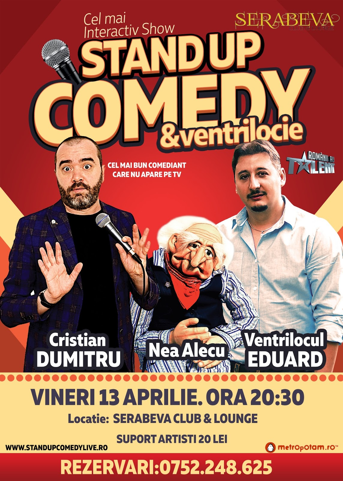 Stand-Up Comedy Medias Vineri 13 Aprilie 2018