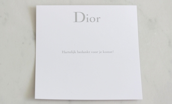 Dior Thank you card