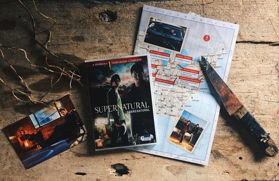 dvd supernatural 1 temporada box sam dean faca