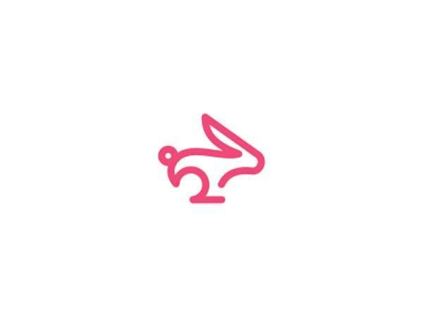 Inspirasi Desain Logo Monoline 2017 - Rabbit Monoline Logo