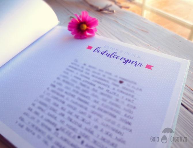 libro album personalizado primer año bebe Gota Creativa
