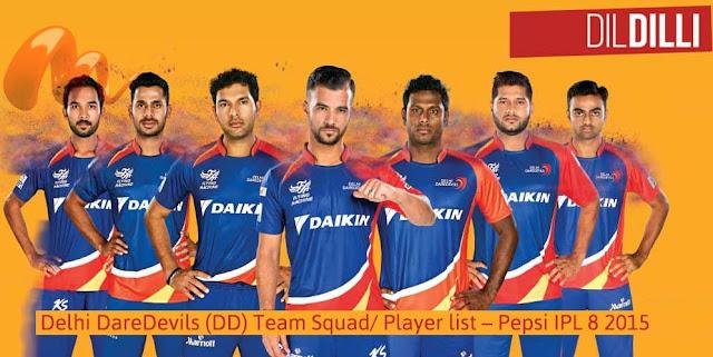 Delhi Daredevils Team 2016 Complete DD Squad List IPL 9 2016- IPL T20 Squad