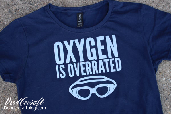 Oxygen is overrated funny reflective iron on vinyl t-shirt made with the Cricut maker.