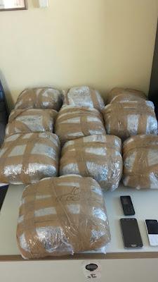 Συνελήφθη 25χρονος με πάνω από 21 κιλά κάνναβης και μικροποσότητα κοκαΐνης