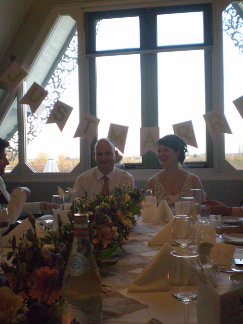 Bride and Groom at the head of the table