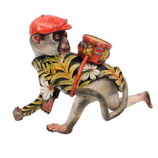 Safari Fusion blog | Monkey business | Quirky and fun Ardmore ceramic Monkey sculpture