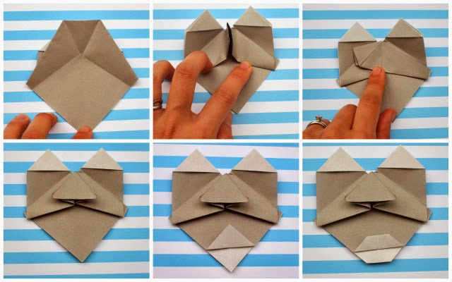 how to fold origami faces with kids/craft- steps 19-24