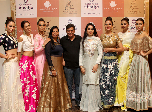 Padmini Kolhapure & Tarun Sarda hosted a power packed lunch to celebrate the festive spirit with a special showcase of PADMASITAA at Celebrating Vivaha 2016