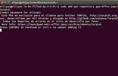 How install Turpial Twitter in Ubuntu
