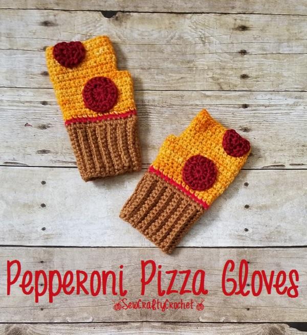 Fingerless Pizza Gloves