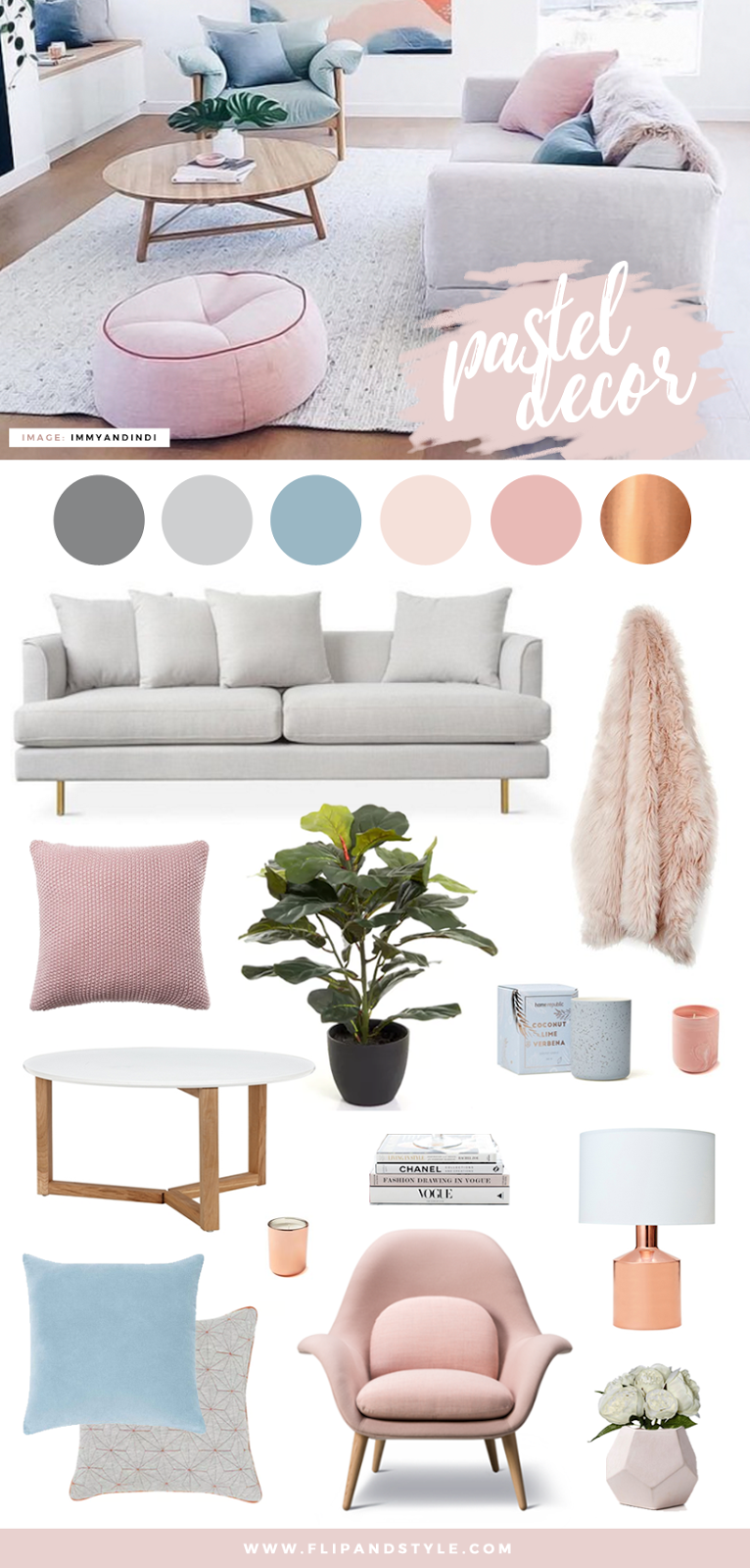 Pastel home decor for Home interior products