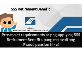 President Rodrigo Duterte's promise to SSS retirees has been fulfilled after Malacanang Palace approved the release of additional P1,000 in SSS pensions.  This is indeed a good news for those who are already receiving their pension from SSS and for those who are planning to retire and enjoy their SSS retirement benefit.