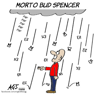 Bud Spencer, cinema, spettacolo, critici cinematografici, coccodrillo, vignetta