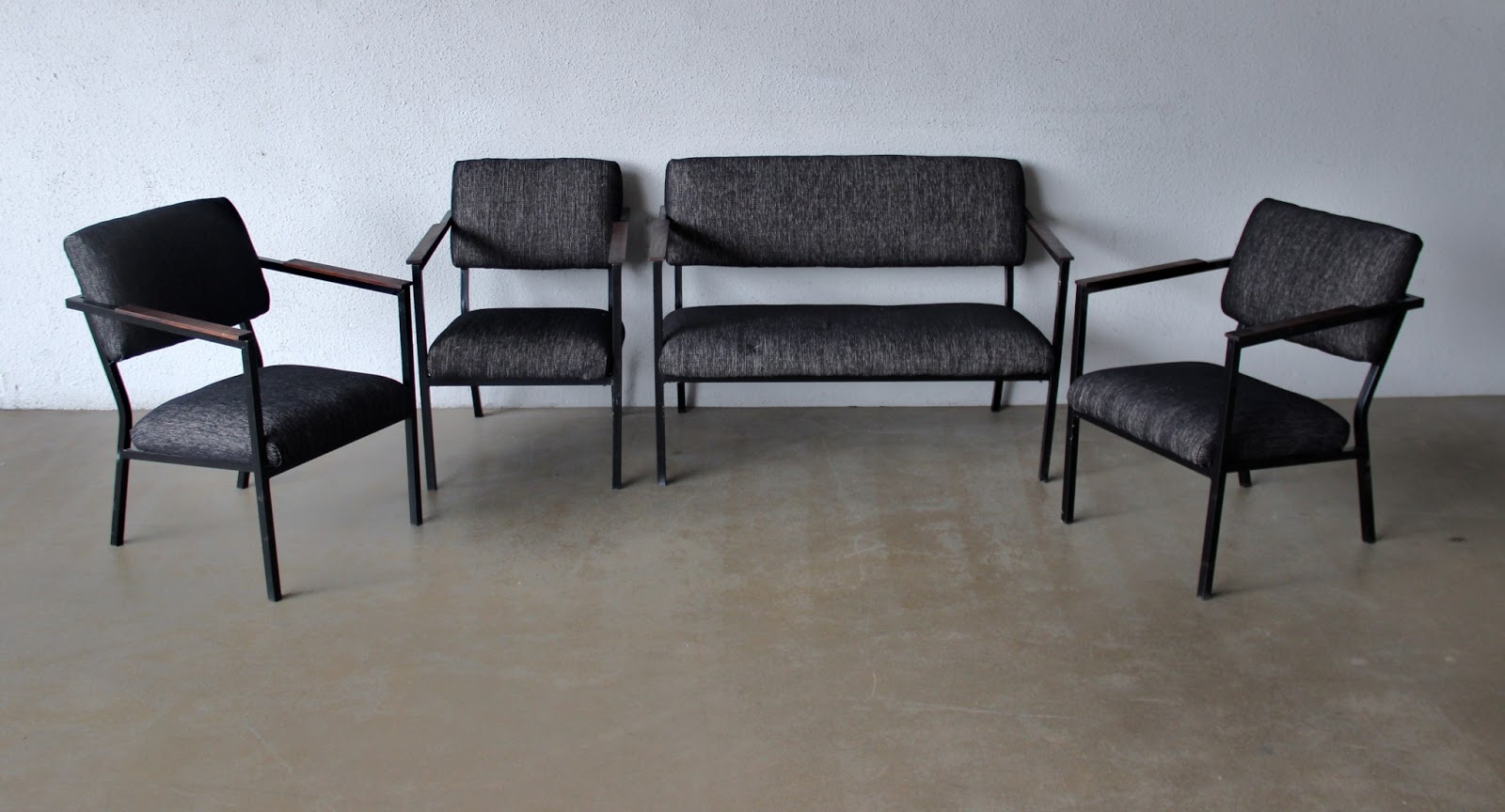 steel sofa set online chennai american furniture with chaise in hematite gray second charm some vintage midcentury latest