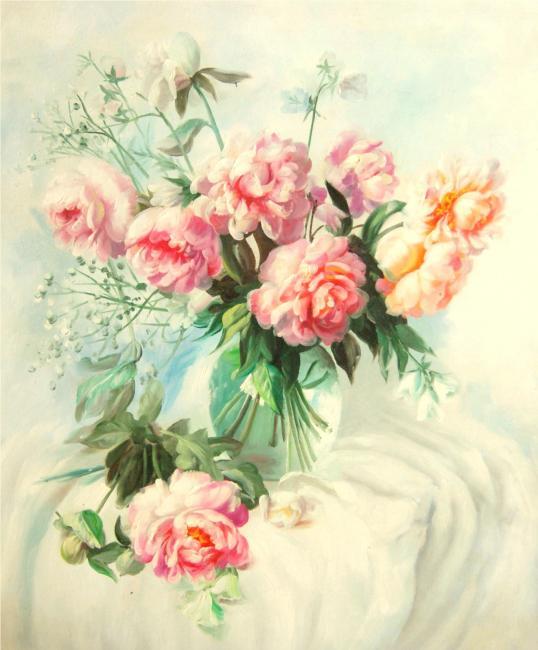 Pintura de Peônias