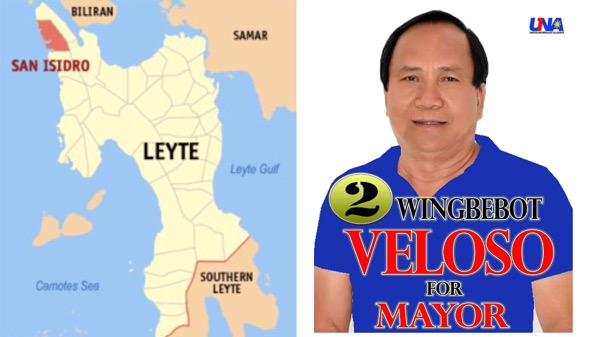 The new San Isidro, Leyte Mayor Wingbebot Veloso.