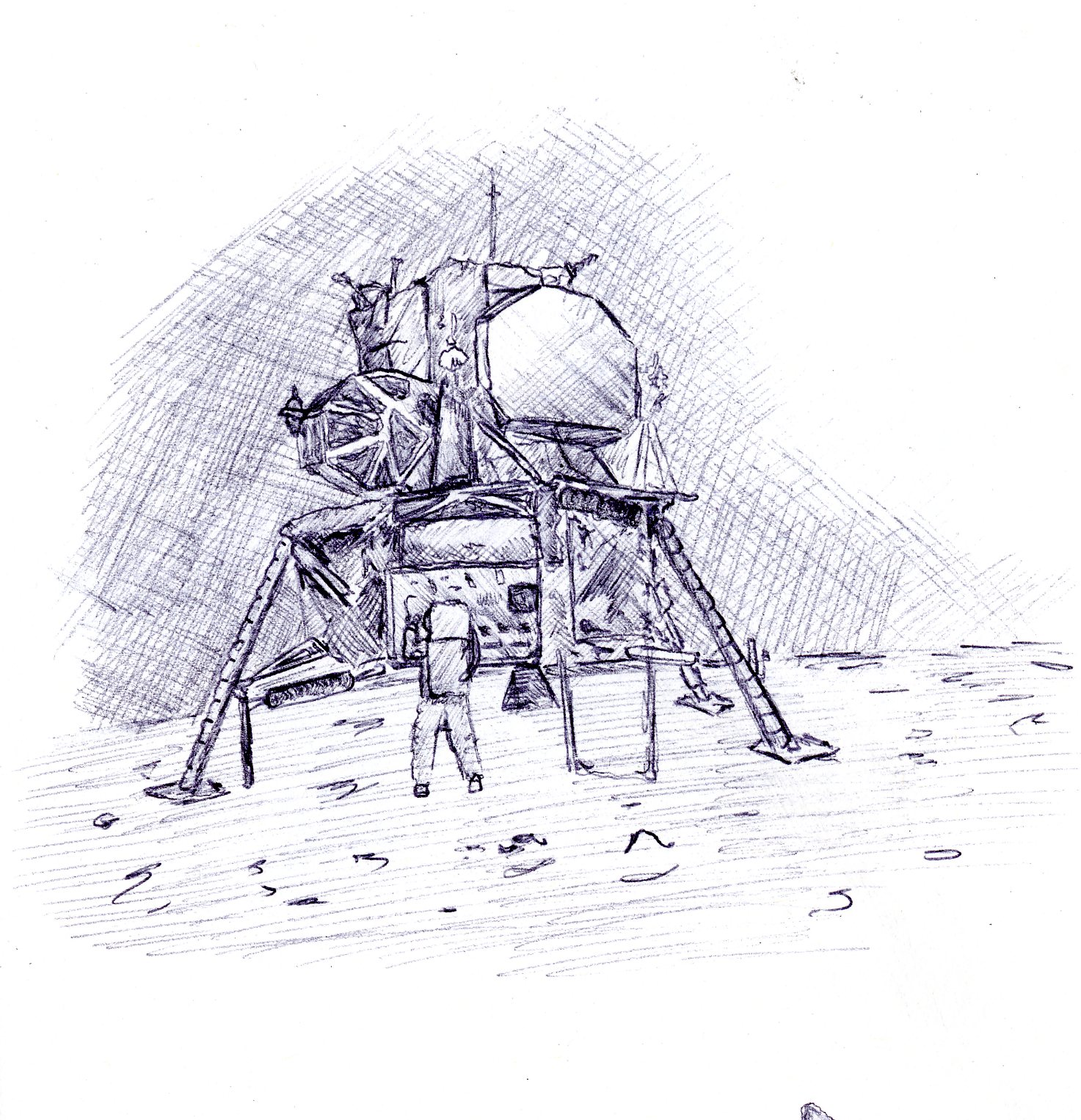 Image Gallery moon landing drawing