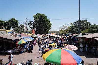 Keadaan pasar, Chadni Chowk, New Delhi, India