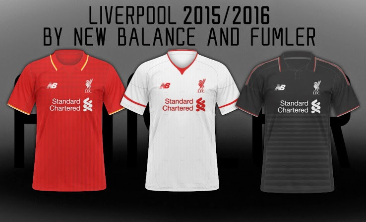 7553b9140 The new red Liverpool 15-16 Home Kit features a classical kit design with a unique  kit collar