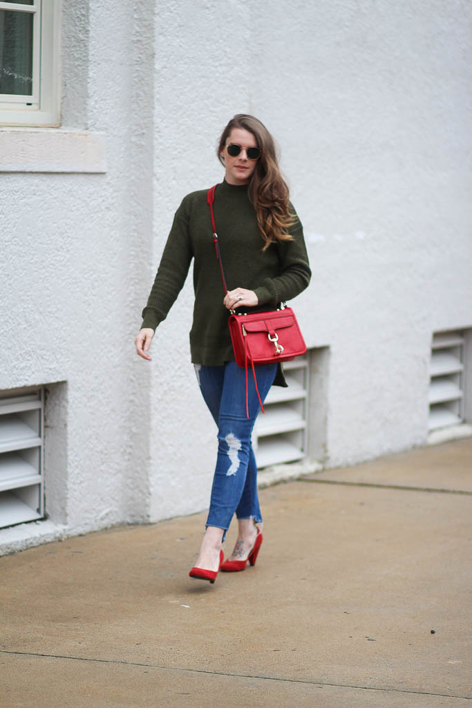 Olive sweaters under $50