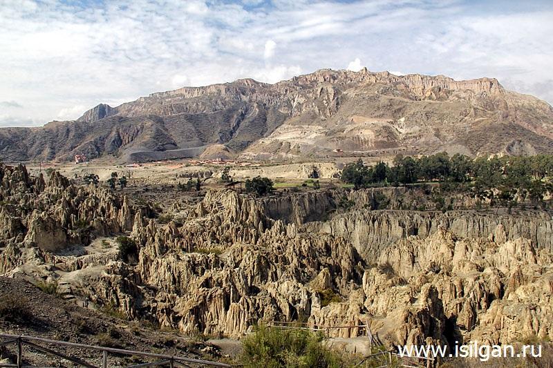 Лунная долина (Valle de la Luna). Город Ла-Пас. Боливия