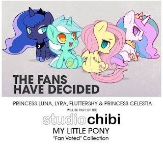MLP WeLoveFine Series 2 Chibi Vinyl Figure Poll Winners