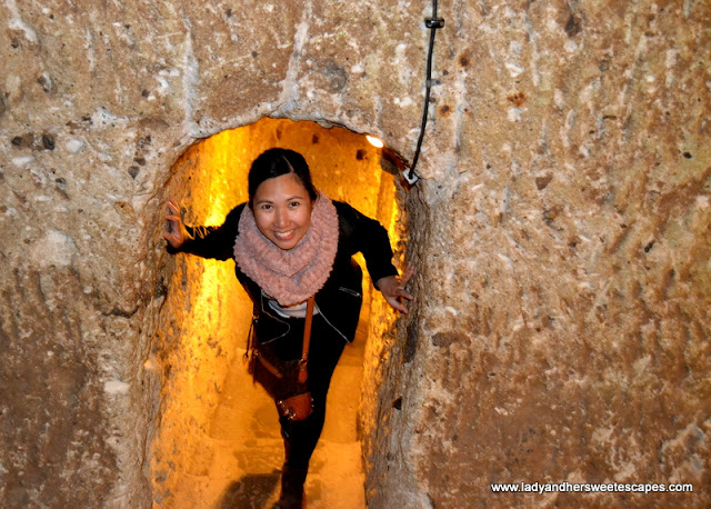 Lady at Derinkuyu Underground City