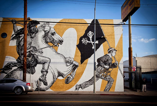 Street Art By American Urban artists Cyrcle And French singer Woodkid in Los Angeles, USA. 11