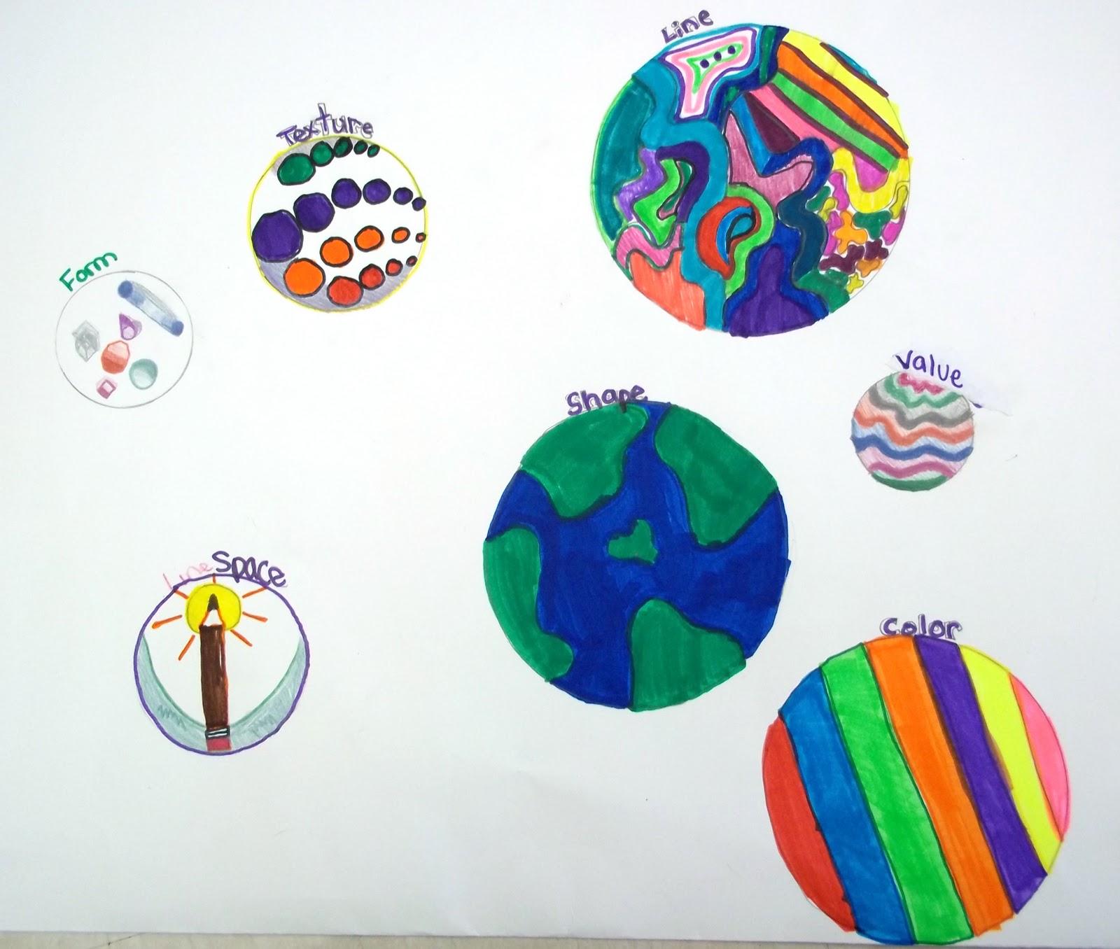 Monument Valley Regional Middle School Art Class Art Elements 7th Grade