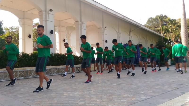 Timnas Indonesia di Hotel Daewoo Hanoi jelang laga vs Vietnam