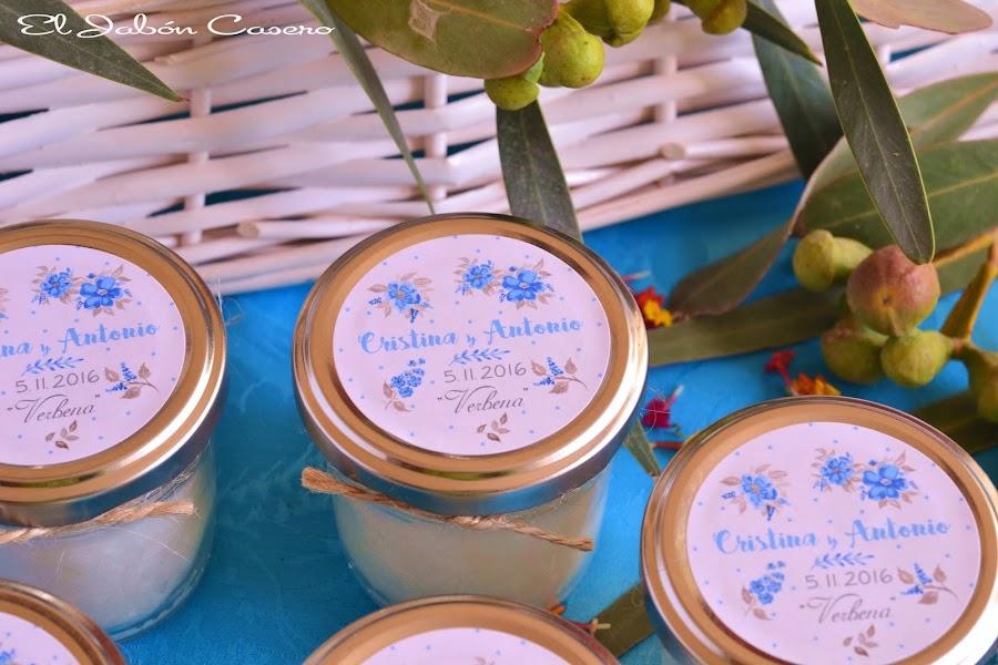 Detalles boda velas aromaticas personalizadas