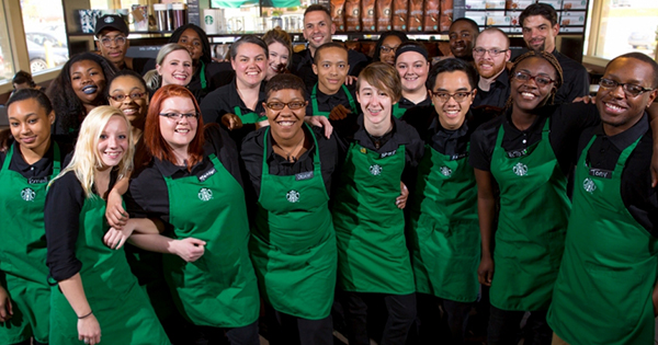 Starbucks employees in Ferguson, MO