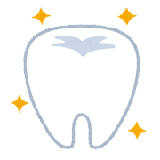 歯のイラスト「健康的で綺麗な歯」
