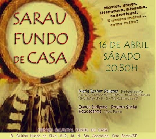 Sarau em Sete Barras tem cultura indígena como tema
