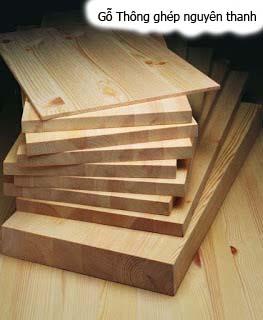 gỗ thông ghép nguyên thanh