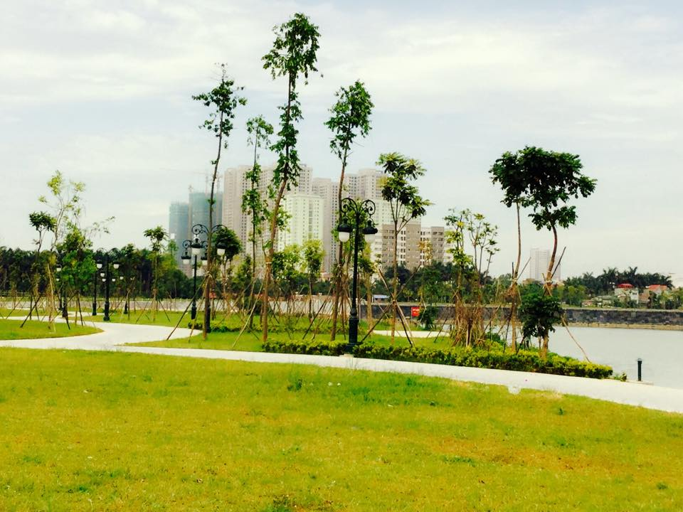 Công viên cây xanh tại chung cư An Bình City - 232 Phạm Văn Đồng