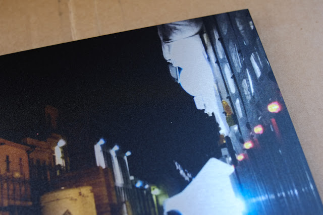 Dettaglio di una fotografia stampata su alluminio