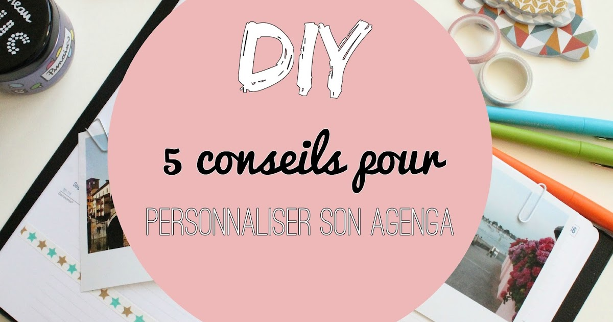 diy 5 conseils pour personnaliser son agenda chat mallow blog lifestyle dijon lyon. Black Bedroom Furniture Sets. Home Design Ideas