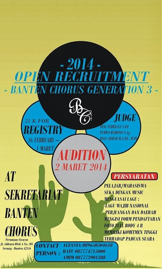 Open Recruitment Banten Chorus Generation 3