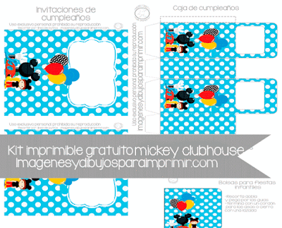 Kit imprimible de cumpleaños mickey clubhouse