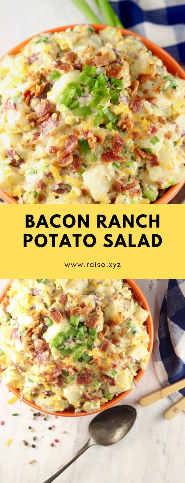 BACON RANCH POTATO SALAD #salad #summer #lunch #bacon