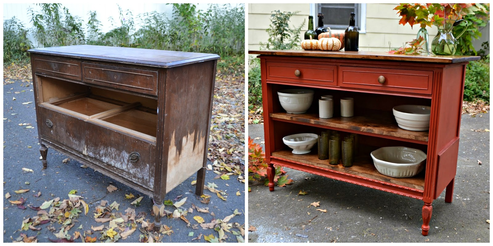 turn old dresser into kitchen island heir and space an antique dresser turned kitchen island 9496
